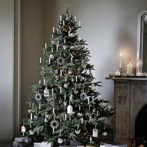 image - Silver Christmas Tree Decorations