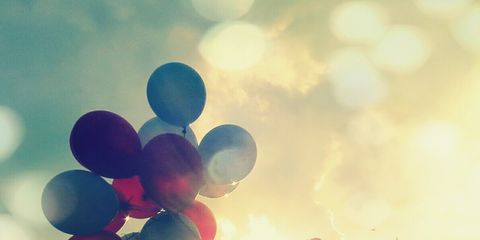 Sky, Balloon, Atmosphere, Colorfulness, Sunlight, Party supply, World, Tints and shades, Backlighting, Morning,