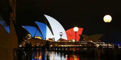 Night, Reflection, Midnight, Opera house, Tourist attraction,