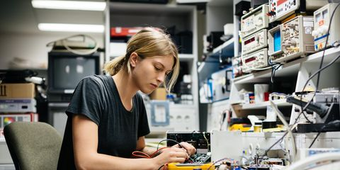 Table, Engineering, Electronics, Job, Electronic engineering, Employment, Desk, Office equipment, Computer, Service,