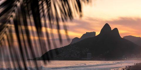 Coastal and oceanic landforms, Shore, Coast, Beach, Sand, Tropics, Afterglow, Sunset, People on beach, Island,
