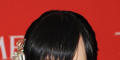 Nose, Lip, Hairstyle, Skin, Chin, Forehead, Eyebrow, Eyelash, Facial expression, Bangs,