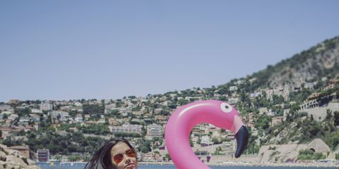 Pink, Fun, Inflatable, Summer, Leisure, Recreation, Vacation, Games, Boat, Water bird,