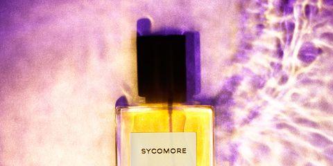 Perfume, Liquid, Fluid, Yellow, Purple, Violet, Lavender, Magenta, Pink, Bottle,