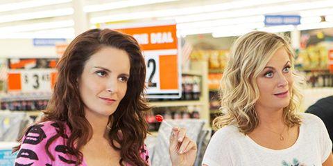 Customer, Plastic bottle, Retail, Plastic, Service, Plastic bag, Shopping, Brown hair, Long hair, Glove,