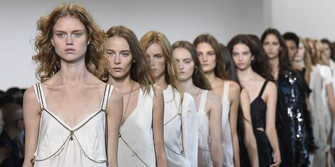 Fashion show, Shoulder, Runway, Style, Waist, Fashion model, Dress, Fashion, Model, Youth,