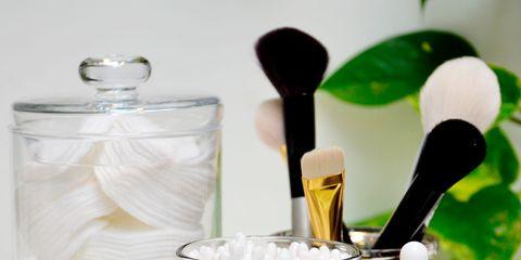 Drinkware, Liquid, Fluid, Glass, Brush, Cosmetics, Cylinder, Still life photography, Glass bottle, Bottle,