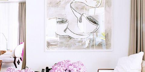 Interior design, Room, Purple, Lavender, Violet, Interior design, Living room, Flowerpot, Magenta, Throw pillow,