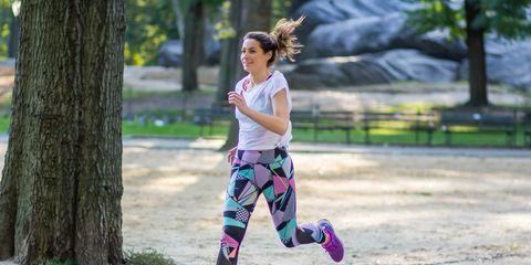 Green, Shoe, Outerwear, Magenta, Sportswear, Pink, T-shirt, Purple, Active pants, Running,