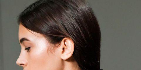 Hairstyle, Chin, Forehead, Eyebrow, Style, Black hair, Eyelash, Earrings, Beauty, Neck,