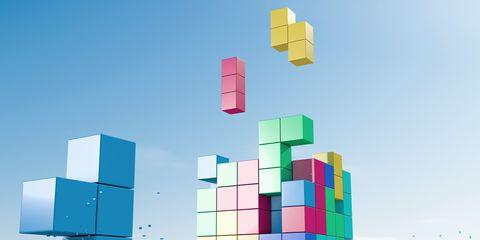 Colorfulness, Rectangle, Aqua, Toy block, Urban design, Square, Graphic design,