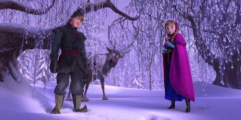 Winter, Deer, Purple, Interaction, Snow, Violet, Fur, Freezing, Holiday, Reindeer,