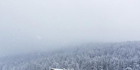 Winter, Freezing, Atmospheric phenomenon, Roof, House, Home, Slope, Snow, Rural area, Hill station,