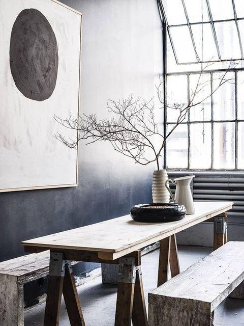 image 中式水墨渐变墙餐厅