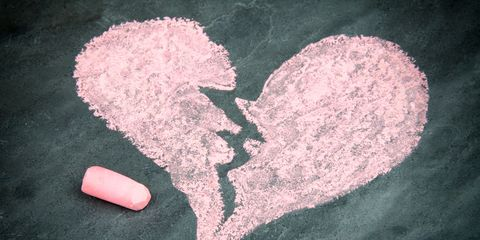 Heart, Love, Chalk, Painting, Illustration, Drawing,