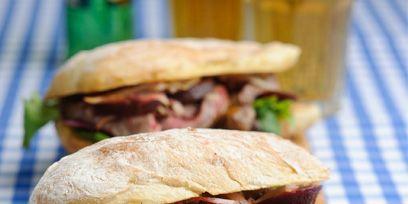 Food, Cuisine, Finger food, Sandwich, Baked goods, Ingredient, Dish, Leaf vegetable, Produce, Bun,