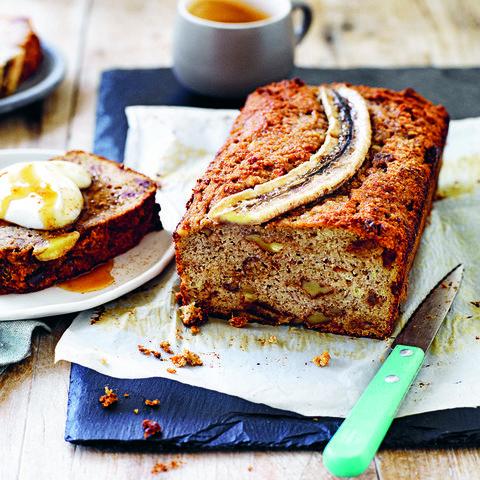 Healthy gluten-free banana bread