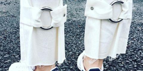 Product, Shoe, White, Style, Collar, Fashion, Grey, Street fashion, Walking shoe, Fashion design,