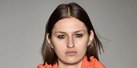 Clothing, Lip, Hairstyle, Collar, Sleeve, Style, Fashion, Eyelash, Fashion model, Street fashion,