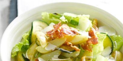 Food, Cuisine, Salad, Vegetable, Produce, Leaf vegetable, Ingredient, Tableware, Dishware, Recipe,