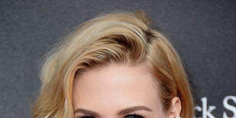Hair, Nose, Lip, Cheek, Hairstyle, Skin, Sleeve, Chin, Forehead, Earrings,