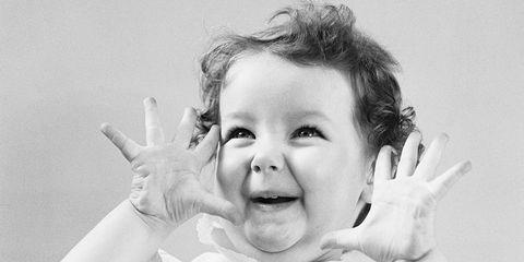 Finger, Hand, Dress, Child, Happy, Baby & toddler clothing, Gesture, Toddler, Tooth, Eyelash,