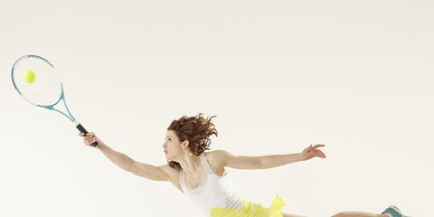 Arm, Skin, Human leg, Sports equipment, Hand, Joint, Standing, Elbow, Tennis racket, Summer,