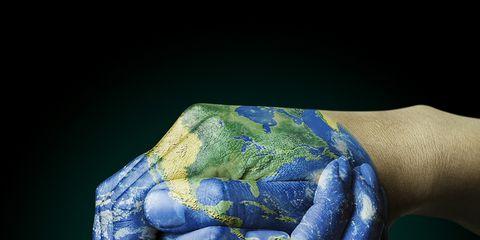 Finger, Wrist, Joint, Electric blue, Majorelle blue, Colorfulness, Cobalt blue, Sculpture, Gesture, Thumb,