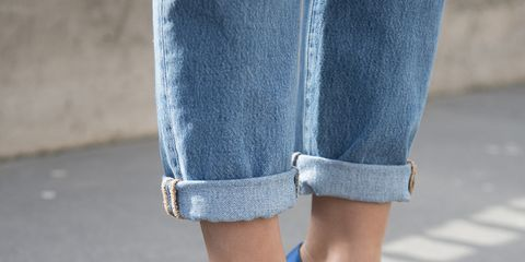 Footwear, Blue, Denim, Jeans, Shoe, Street fashion, Cobalt blue, High heels, Leg, Electric blue,