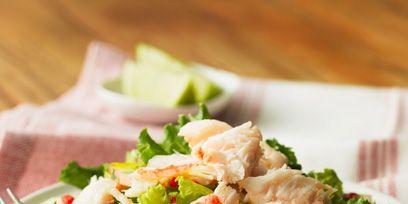 Food, Dishware, Cuisine, Tableware, Ingredient, Plate, Serveware, Leaf vegetable, Salad, Recipe,