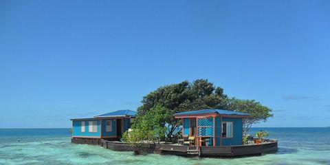 Tropics, Ocean, Sea, Caribbean, Vacation, House, Water transportation, Island, Cay, Coastal and oceanic landforms,