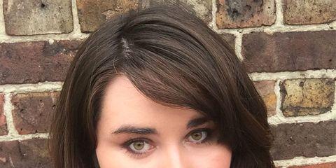 Lip, Cheek, Hairstyle, Chin, Forehead, Eyebrow, Brick, Eyelash, Brickwork, Beauty,