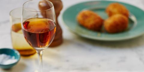 Food, Finger food, Drink, Stemware, Fried food, Drinkware, Wine glass, Dish, Glass, Serveware,
