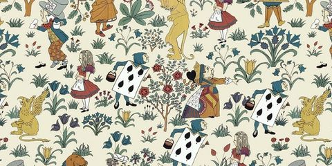Textile, Pattern, Illustration, Creative arts, Wrapping paper, Painting, Pattern,