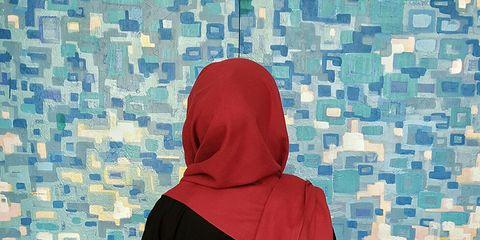 Sleeve, Textile, Hood, Sweatshirt, Jacket, Electric blue, Pattern, Hoodie, Maroon, Turquoise,