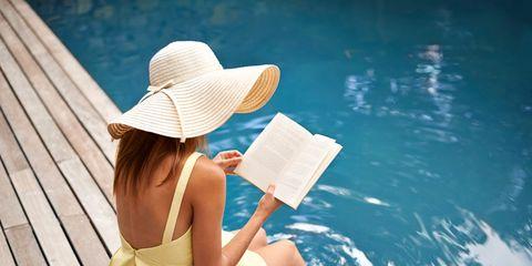Skin, Sun hat, Sitting, Hat, Headgear, Summer, Leisure, Vacation, Leg, Photography,