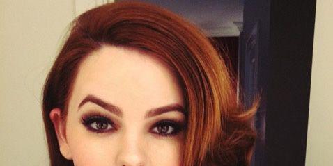 Lip, Hairstyle, Chin, Forehead, Eyebrow, Eyelash, Style, Eye shadow, Iris, Beauty,