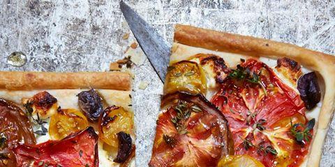 Food, Ingredient, Recipe, Pizza, Finger food, Cuisine, Baked goods, Fast food, Dish, Fruit,
