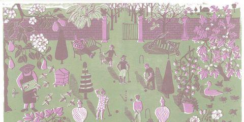 Organism, Purple, Violet, Magenta, Pink, Lavender, Pattern, Design, Illustration, Painting,