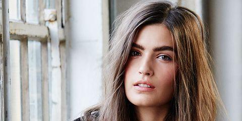 Nose, Lip, Hairstyle, Eye, Skin, Shoulder, Eyebrow, Collar, Eyelash, Style,