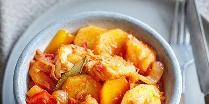 Food, Ingredient, Cuisine, Dish, Recipe, Tableware, Kitchen utensil, Dishware, Cutlery, Stew,