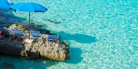 Blue, Water, Coastal and oceanic landforms, Turquoise, Aqua, Umbrella, Teal, Azure, Sea, Shade,