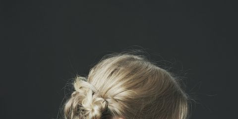Clothing, Ear, Hairstyle, Shoulder, Style, Beauty, Back, Neck, Blond, Flash photography,