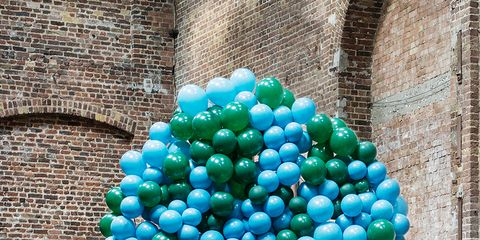 Blue, Brick, Architecture, Wall, Aqua, Turquoise, Teal, Brickwork, Colorfulness, Majorelle blue,