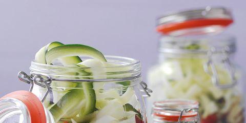 Food, Produce, Ingredient, Serveware, Food storage containers, Mason jar, Preserved food, Pickling, Tableware, Food storage,