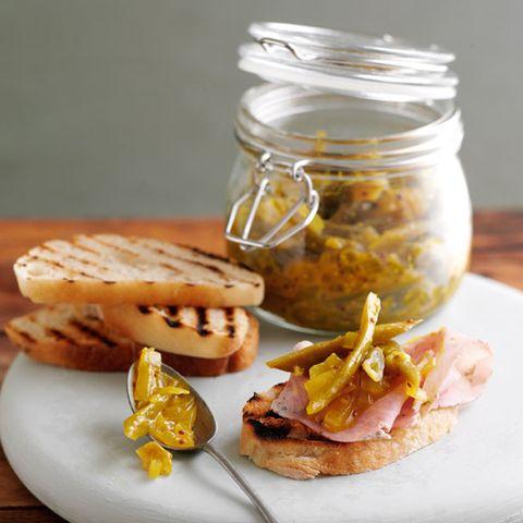Dish, Food, Cuisine, Ingredient, Finger food, Mason jar, Produce, Breakfast sandwich, Baked goods, Breakfast,