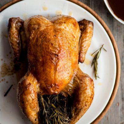 Michael Caines' roast chicken