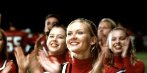 Smile, Mouth, People, Cheerleading uniform, Uniform, Happy, Facial expression, Team, Abdomen, Beauty,