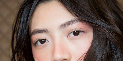 Face, Hair, Eyebrow, Lip, Hairstyle, Chin, Cheek, Beauty, Nose, Skin,