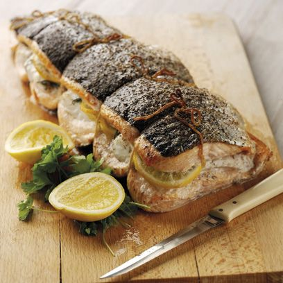 Salmon fillets stuffed with cod